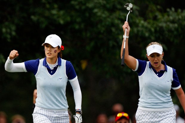 Michelle Wie and Cristie Kerr sparked the U.S. on Saturday at the Solheim Cup.