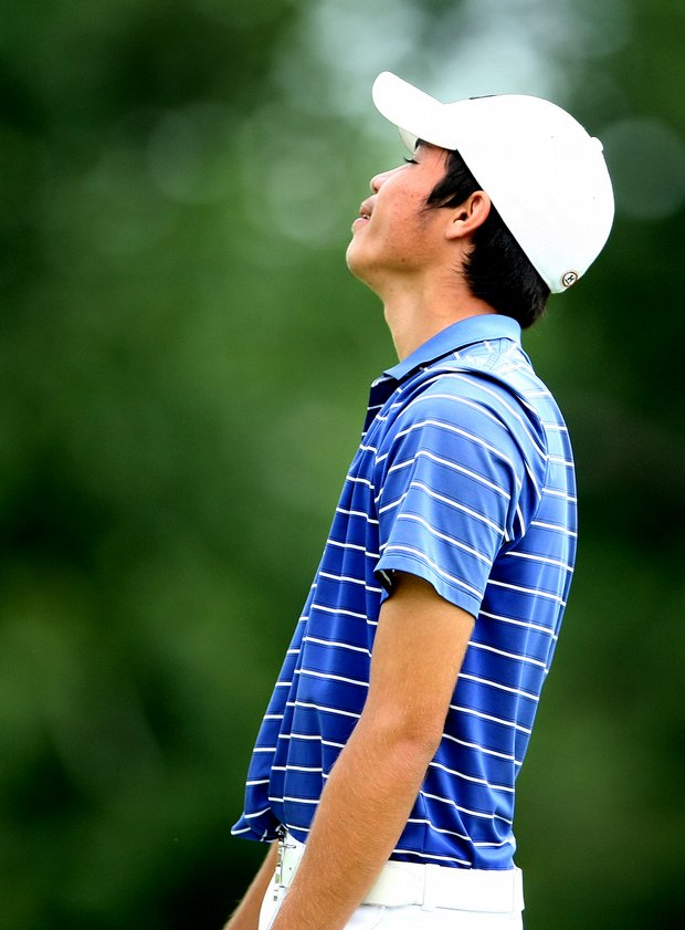 Marcel Puyat reacts to losing his match at No. 18 during Thursday's Round of 16.