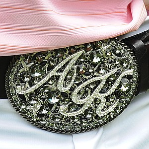 Anthony Kim wears a decorative belt buckle during the final round of the AT&T National in 2008.