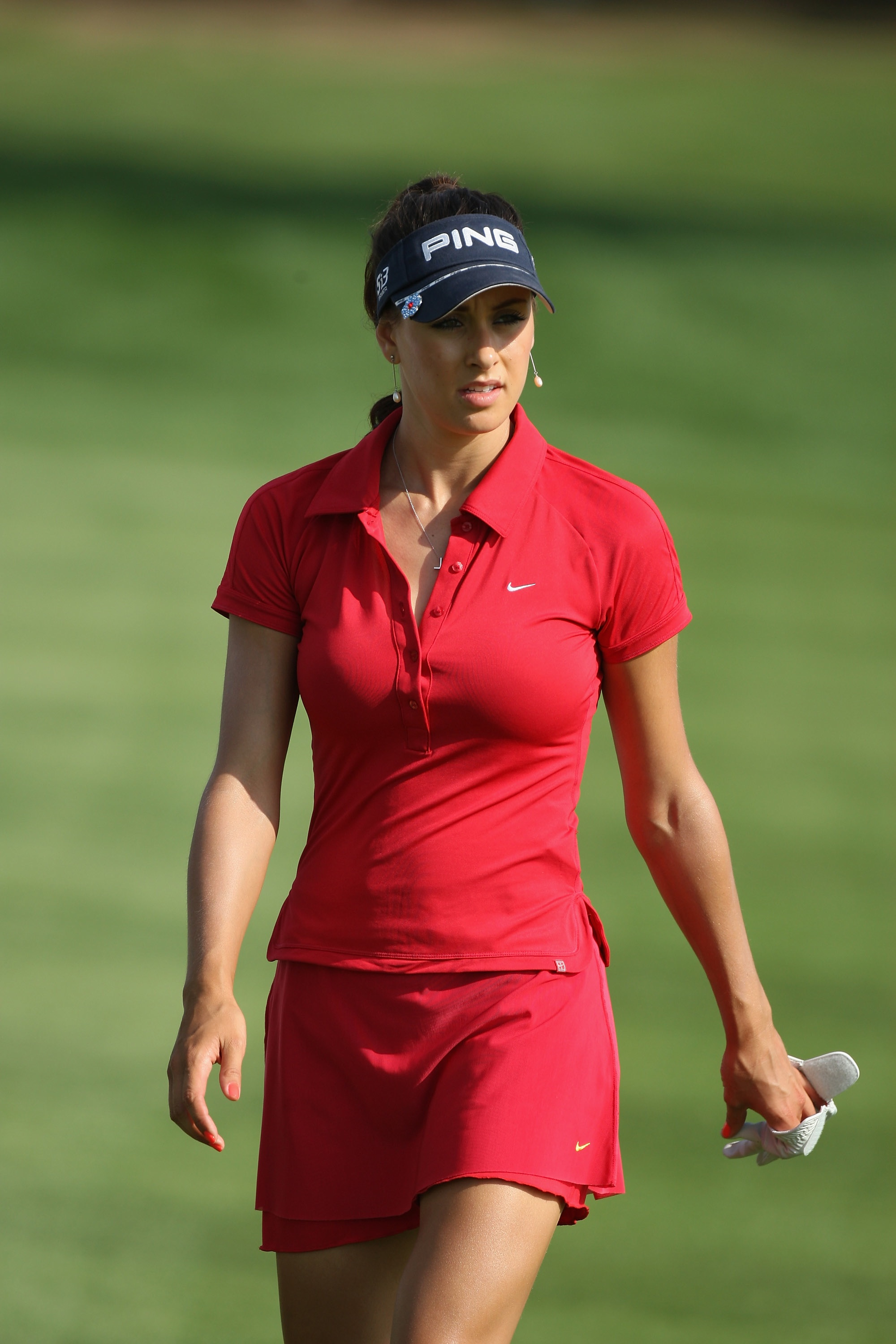 Maria Verchenova of Russia walks up the fairway during the third round of the Dubai Ladies Masters.