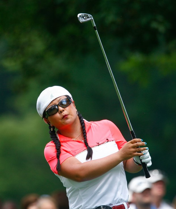 Christina Kim hits a shot during the second round of the 2009 U.S. Women's Open.