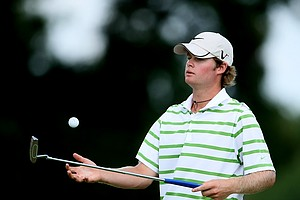 Charlie Holland loses hole No. 9 and Ben Martin goes 5-up during Saturday's semifinals.