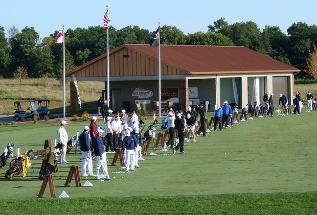 Scene from the Blue Top Ridge driving range Aug. 29 at Golfweek's Conference Challenge.