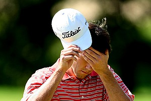 Ben Martin walks off No. 13 after losing the hole in the morning round of the final.