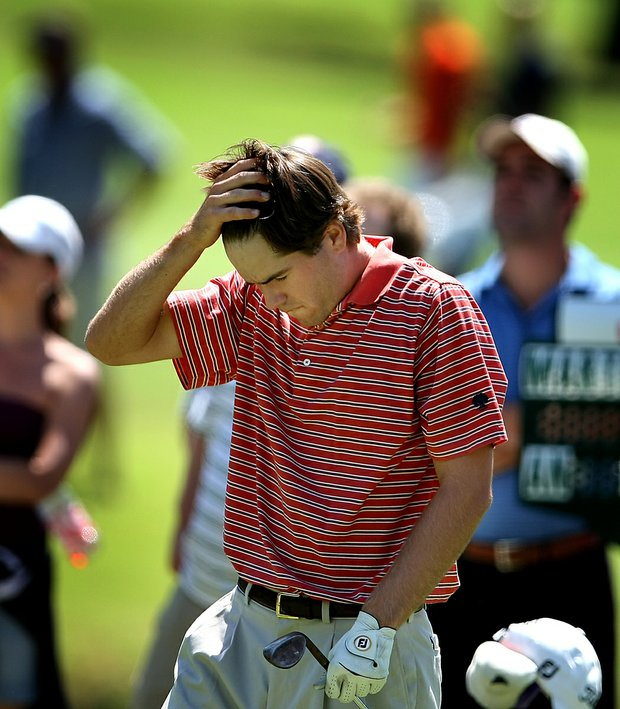 Ben Martin reacts after losing the seventh hole to go 6 down.