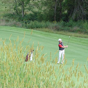 Joe Emerich of Illinois State hits a shot during Rd. 1 of Golfweek's Conference Challenge.