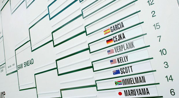 A bracket from the WGC-Accenture Match Play Championship.