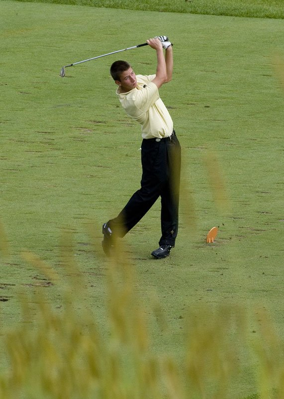 Iowa's Vince India hits an approach shot during the second round of Golfweek's Conference Challenge.
