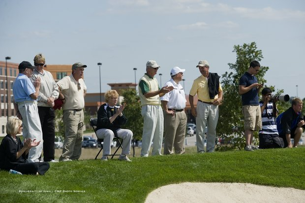 Fans look on at Golfweek's Conference Challenge at Blue Top Ridge.
