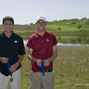 Co-medalists Brad Hopfinger and Drew Kittleson.