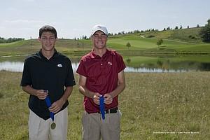 Co-medalists Brad Hopfinger and Drew Kittleson.
