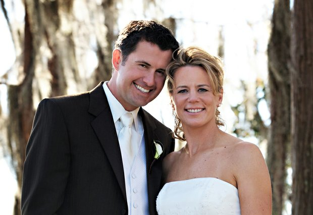 Annika Sorenstam and Mike McGee on their wedding day, Jan. 10, 2009, near their home in Orlando, Fla.