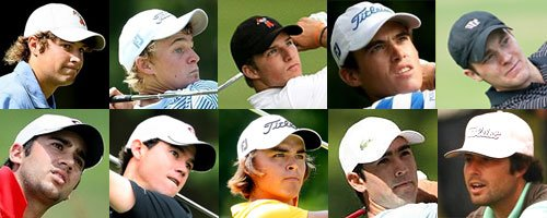 The U.S. Walker Cup team (from top left, clockwise): Peter Uihlein, Bud Cauley, Morgan Hoffmann, Drew Weaver, Brendan Gielow, Nathan Smith, Cameron Tringale, Rickie Fowler, Brian Harman and Adam Mitchell.
