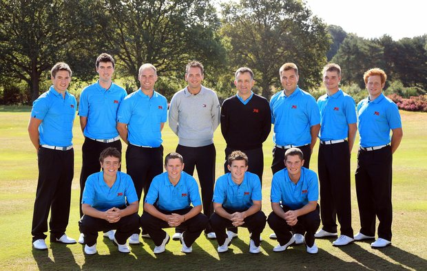 The Great Britain and Ireland Walker Cup Team (back row left to right): Matt Haines, Niall Kearney, Wallace Booth, former Walker Cup player Nick Dougherty , Colin Dalgleish (captain), Gavin Dear, Dale Whitnell, Luc Goddard; (front row left to right) Tommy Fleetwood, Stiggy Hodgson, Chris Paisley.