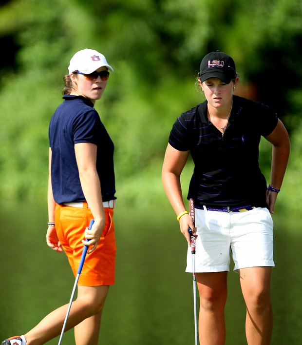 Auburn's Candace Schepperle and LSU's Mary Michael Maggio at No. 8.