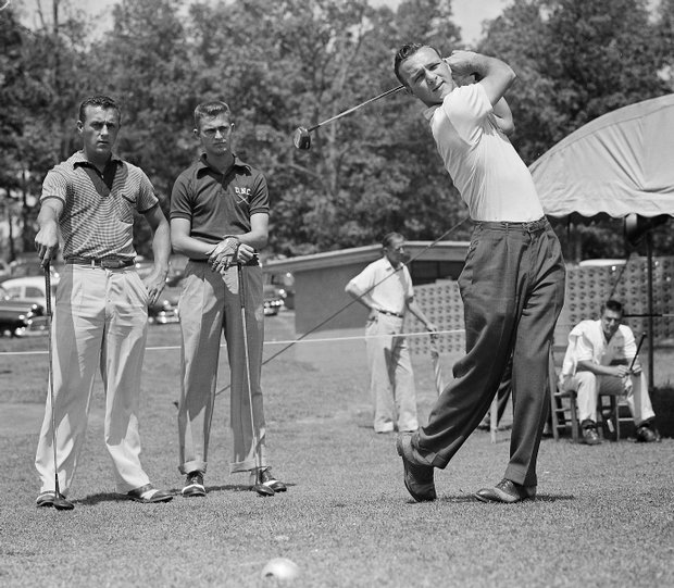 Arnold Palmer, of Wake Forest, during the opening round of the Southern Intercollegiate in Athens, Ga., on April 29, 1954.