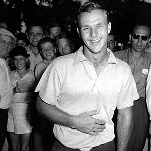 Arnold Palmer, 24, after defeating Bob Sweeney to win the U.S. Amateur in Detroit, Mich., Aug. 28, 1954.