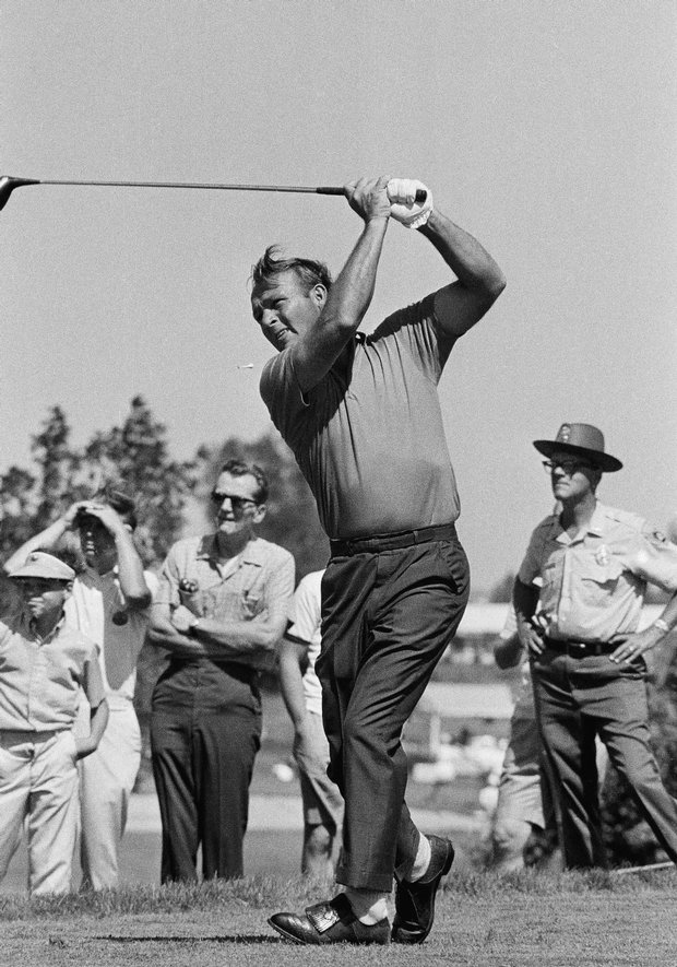 Arnold Palmer during second round of Greater Milwaukee Open, Aug. 19, 1969.