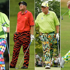 John Daly in a variety of Loudmouth gear.