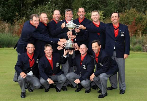 The U.S. won eight of ten singles matches Sunday at the PGA Cup to capture the trophy.