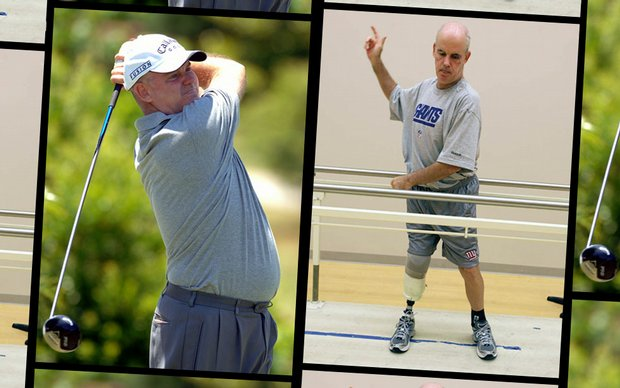 Ken Green lost his right leg after a June accident. He's been fighting back ever since.