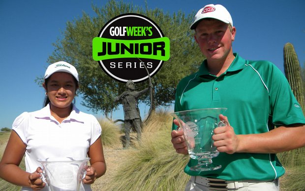 Lilia Vu (left) and J.J. Holen both went wire-to-wire to win Golfweek's Junior Series event at Longbow GC Sept. 27.