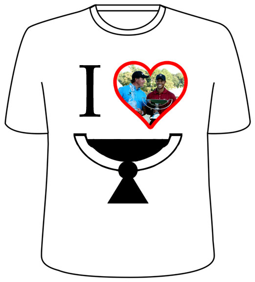 I [heart] FedEx Cup T-shirts are now on sale in select markets.