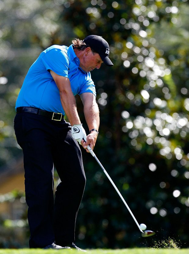 Phil Mickelson on eighth hole during the final round of the Tour Championship.