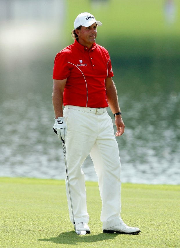 Phil Mickelson, pictured at the Tour Championship, wears Tom Ford-designed apparel.