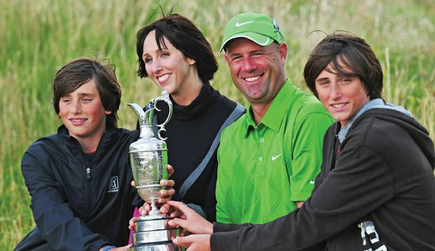 Cink with sons Connor and Reagan, and wife Lisa.