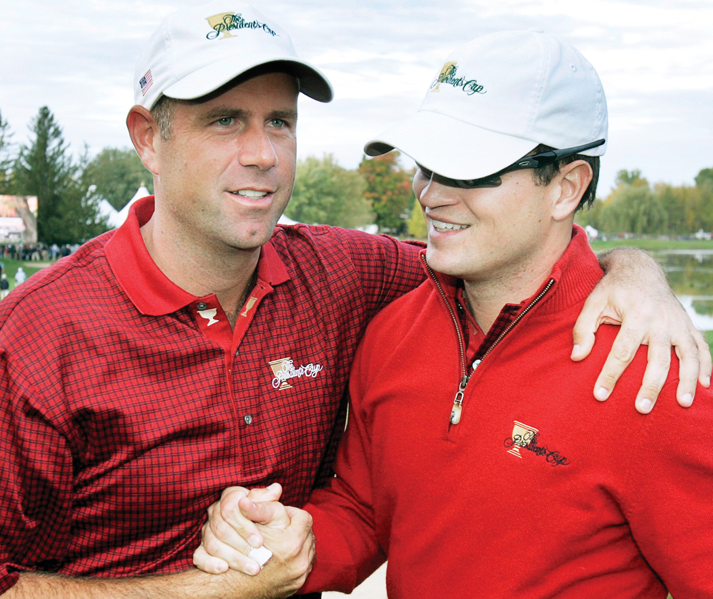 Cink with Zach Johnson, his closest friend on Tour.