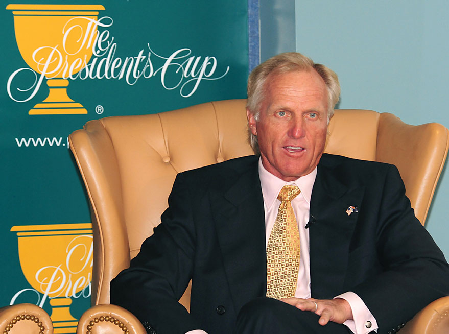 International Presidents Cup captain Greg Norman.