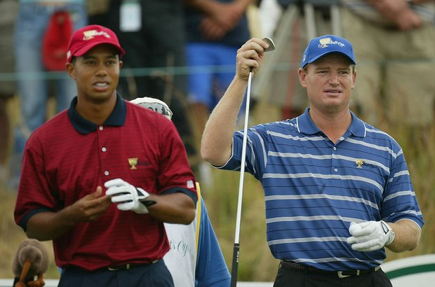 Tiger Woods and Ernie Els each parred three consecutive sudden-death playoff holes before the 2003 Presidents Cup was called by darkness.