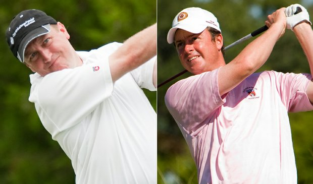 Tim Spitz (left) and Nathan Smith will square off in the final of the U.S. Mid-Amateur.