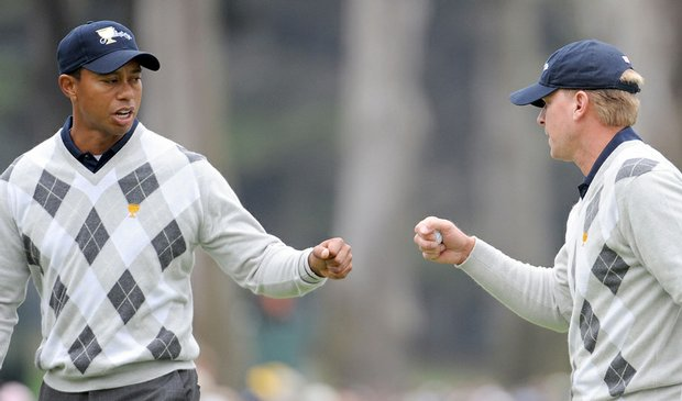 Tiger Woods and Steve Stricker are 4-0 at Harding Park.