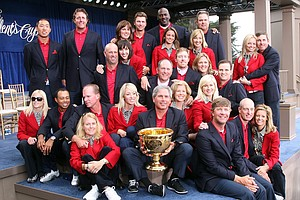 Team USA with their wives and companions at the closing ceremonies.