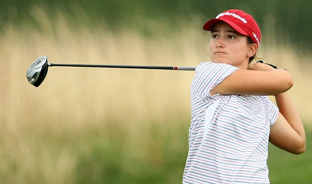 Victoria Tanco moved into a share of the lead Oct. 11 at the Ping Inviational.