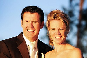 Annika Sorenstam and Mike McGee were married on Jan. 10, 2009 in Orlando, Fla. (Lena Hyde Photography)