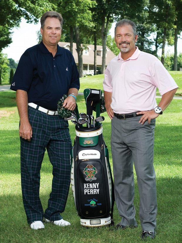 PGA Tour pro Kenny Perry (left) and Rickey Lamitie.