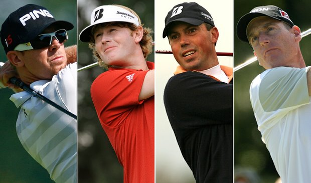 (L to R) Hunter Mahan, Brandt Snedeker, Matt Kuchar, Jim Furyk