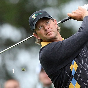 Retief Goosen played TaylorMade's new R9 TP irons at the Presidents Cup.