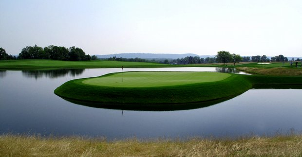 Hole No. 14 at Trump National GC (New Course) in Bedminster, N.J. The course, which ranked No. 13 on Golfweek's Best New Courses list in 2009, will be the site of the 2017 U.S. Women's Open.