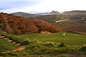 Sand Hollow GC (Championship Course), Hurricane, Utah. Course ranked No. 18.
