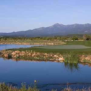 Hole No. 15 with Sierra Blanca in the distance, Rainmakers Golf & Recreation Community, Alto, New Mexico. Course ranked No. 3.