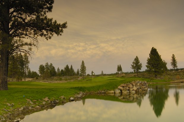 Hole No. 13 at Tetherow, Bend, Oregon. Course ranked No. 6
