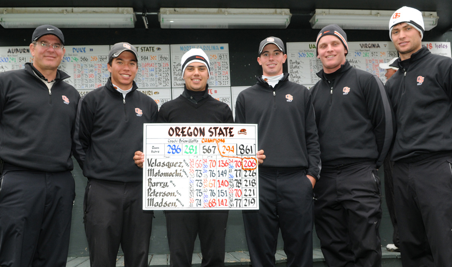 Oregon State won the Bank of Tennessee at The Ridges event Oct. 18.