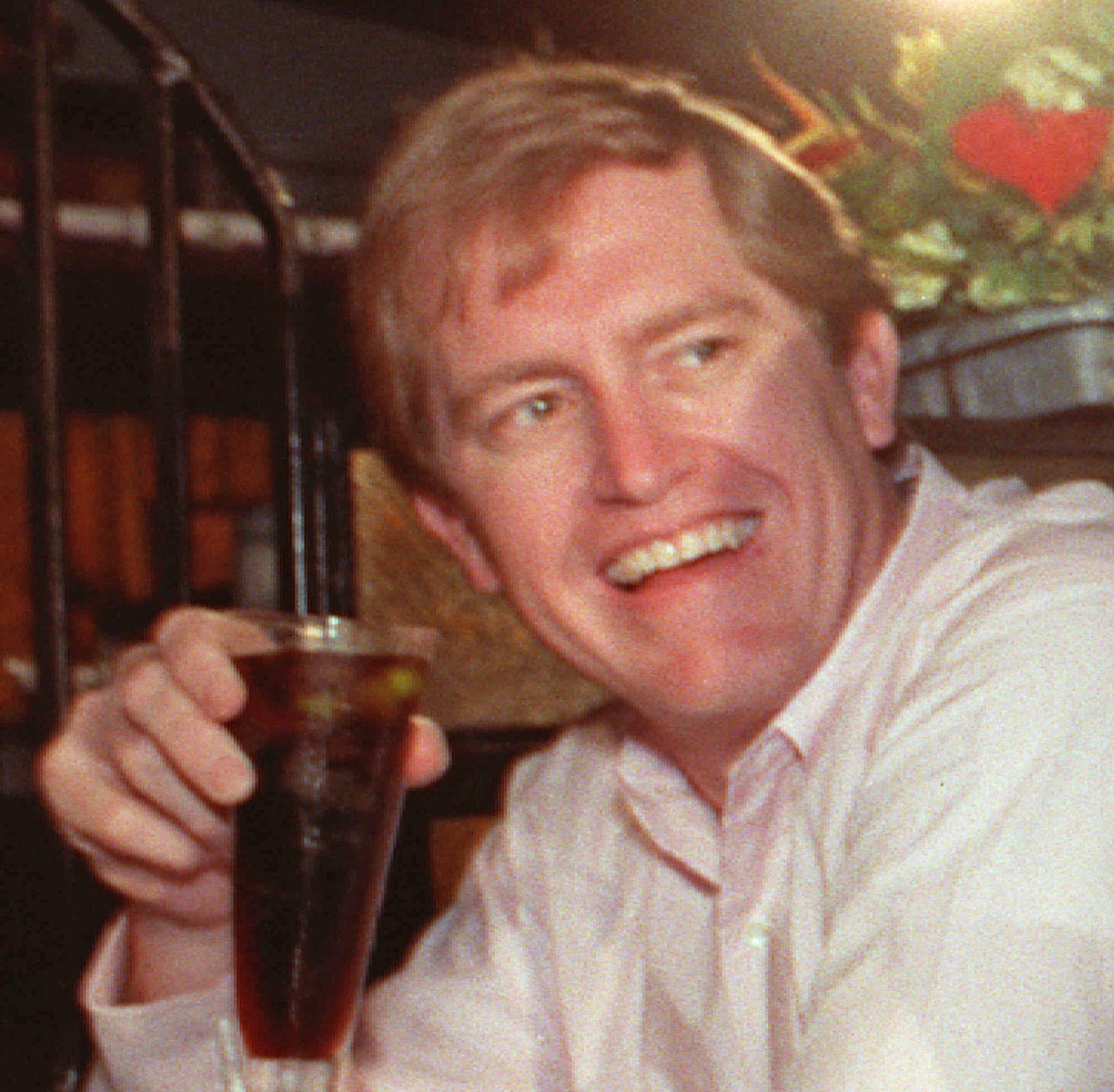 Sports agent Robert Fraley at a Miami restaurant on this April 23, 1990. Farley was killed Oct. 25, 1999 when the lear jet he was aboard with Payne Stewart and three other people crashed in South Dakota.