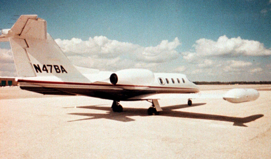 According to Sunjet Aviation, this photo released Oct. 26, 1999, is of the Lear 35 jet that crashed in South Dakota on Monday, Oct. 25, 1999, killing all on board, including Payne Stewart.