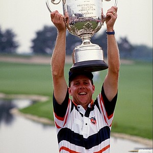 Payne Stewart after winning the 1989 PGA Championship at Kemper Lakes.