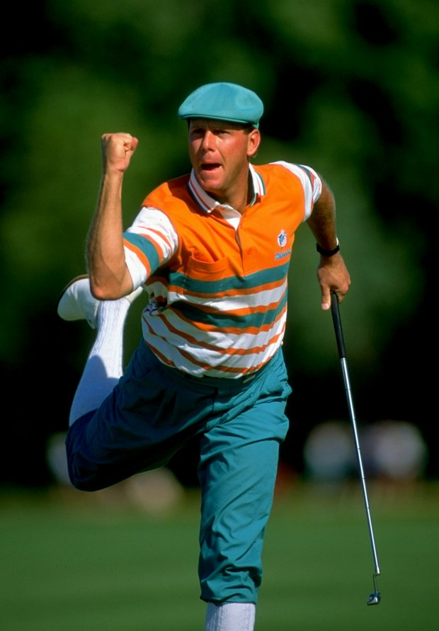 Payne Stewart during the 1991 U.S. Open at the Hazeltine National.